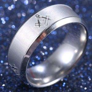 Symbolic Silver Stainless Steel Ring